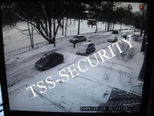 Изображение с уличной камеры видеонаблюдения