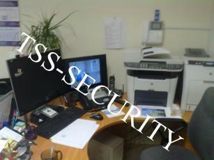 СКС в офисе.  Место секретаря.