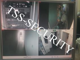 Монитор системы видеонаблюдения.