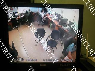 Вид с видеокамеры в офисе.