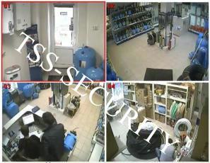 Установка видеонаблюдение в офисе. Монитор системы видеонаблюдения.
